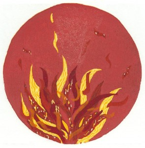 houtsneden Zonnelied - Broeder Vuur - MM Schwarz