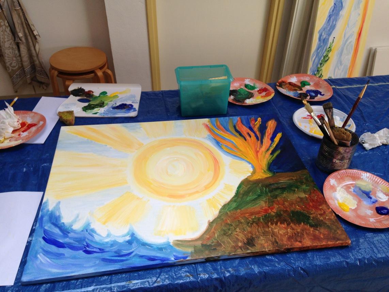Meditatief schilderen in De Lichtkring
