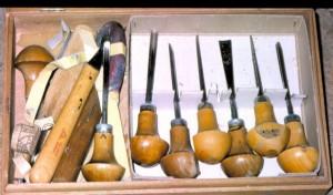 Gutsen voor het maken van de houtsneden