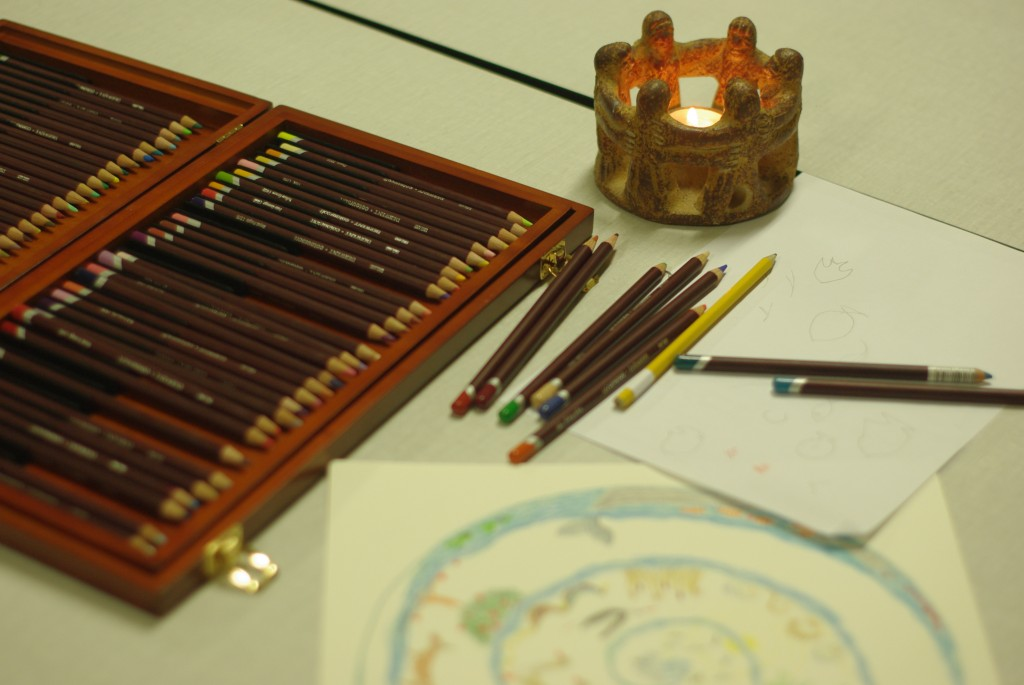 meditatievormen van Veelstemmig Licht - benodigheden mandala tekenen