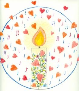 voorbeeld van een resultaat - meditatief mandala tekenen - Veelstemmig Licht